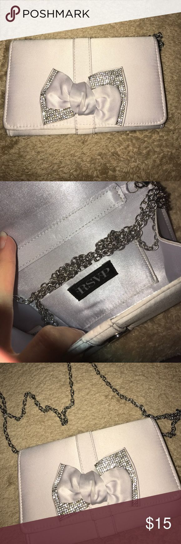 Small Clutch or Side Purse Used once! Can use chain or can be used as just a Clutch Bags Clutches & Wristlets