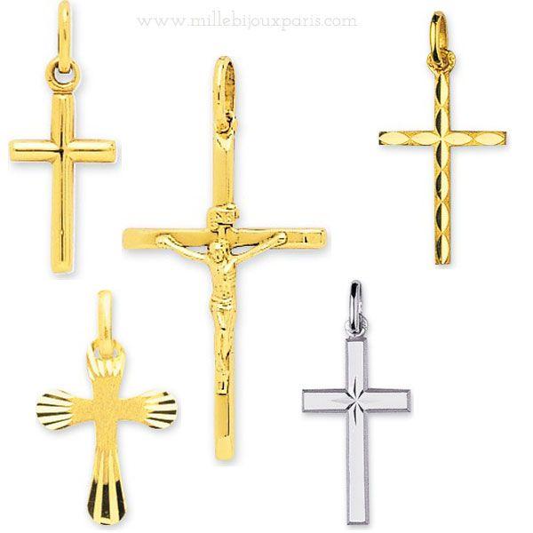 Pendentif croix,crucifix,croix orthodoxe en or
