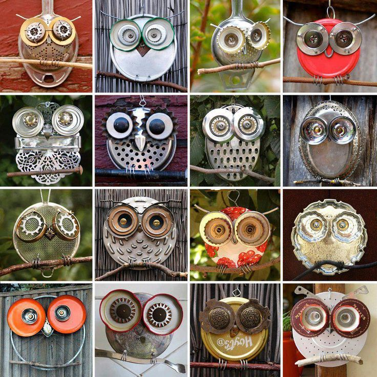 Recycled Owls Metal, Owls, Recycled, RecycledArt