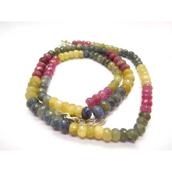 Loose Stone Beads Craft Supply Multi Sapphire Faceted Rondelle Baeds Earth Mined Gemstone 5-6 Mm 18 Necklace by BeadsncrystalsStudio https://www.etsy.com/listing/583830835/loose-stone-beads-craft-supply-multi?ref=rss&utm_campaign=crowdfire&utm_content=crowdfire&utm_medium=social&utm_source=pinterest