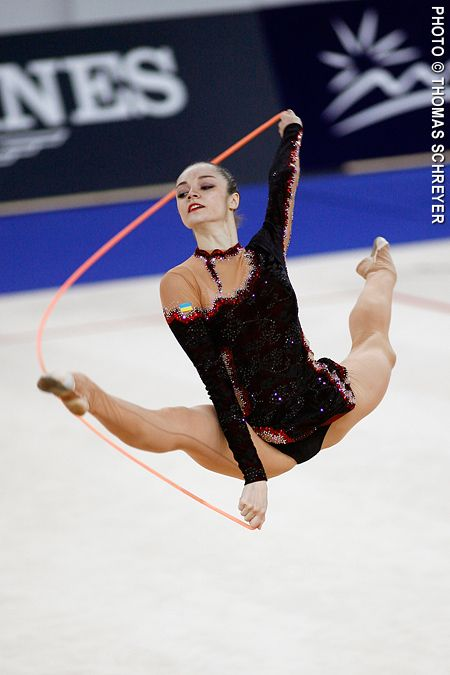 Ukrainian world champion gymnast Anna Bessonova