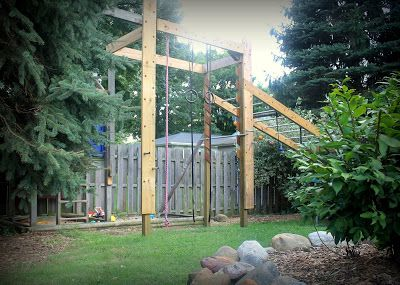 Diy ninja warrior obstacle course by girl meets carpenter
