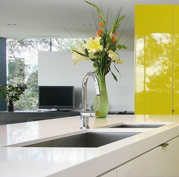 #kitchen #modern caesar stone snow