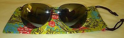 Maui Jim Sport Sugar Beach MJ 421-02 Gloss Black Rimless Polarized Sunglasses