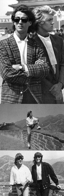 WHAM! in China..Who can believe they were the first pop band to play live in China?! Ho times have changed...