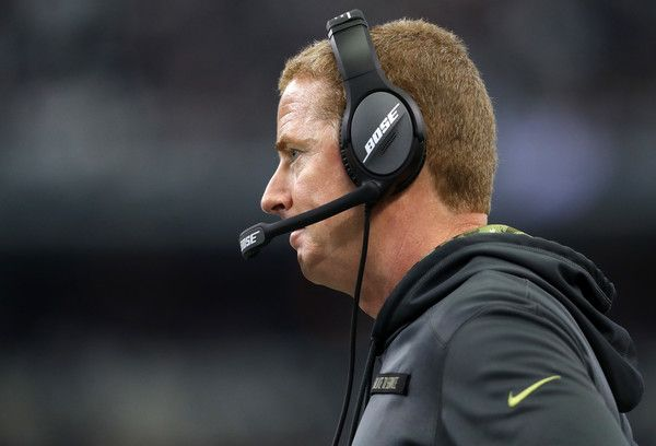 Jason Garrett Photos Photos - Head coach Jason Garrett of the Dallas Cowboys stands on the sideline during the first half against the Baltimore Ravens at AT&T Stadium on November 20, 2016 in Arlington, Texas. - Baltimore Ravens v Dallas Cowboys
