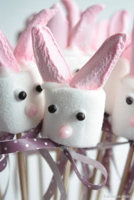 Marshmallow bunnies! #Easter