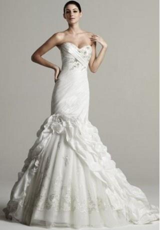 Taffeta Strapless Sweetheart Mermaid Elegant Wedding Dress