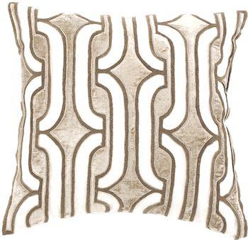 Creme Links Linen & Velvet pillow. Home Accessories We Love at Design Connection, Inc. | Kansas City Interior Design http://www.DesignConnectionInc.com/Blog