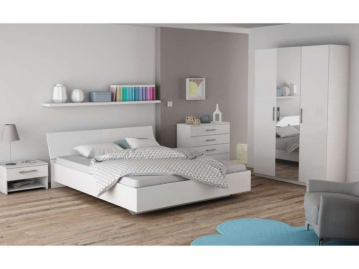 armoire 3 portes jaipur coloris blanc prix promo armoire. Black Bedroom Furniture Sets. Home Design Ideas