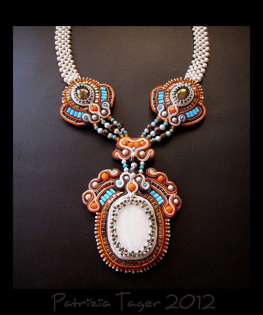 Tribal Dance - Soutache Necklace by Triz Designs