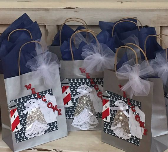 Nautical Wedding Theme Welcome Guest Bags