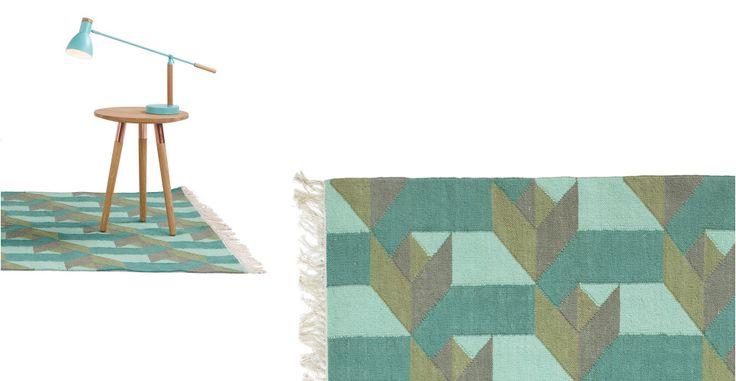 Dakota, un tapis, vert océan, 170 x 240 cm | made.com