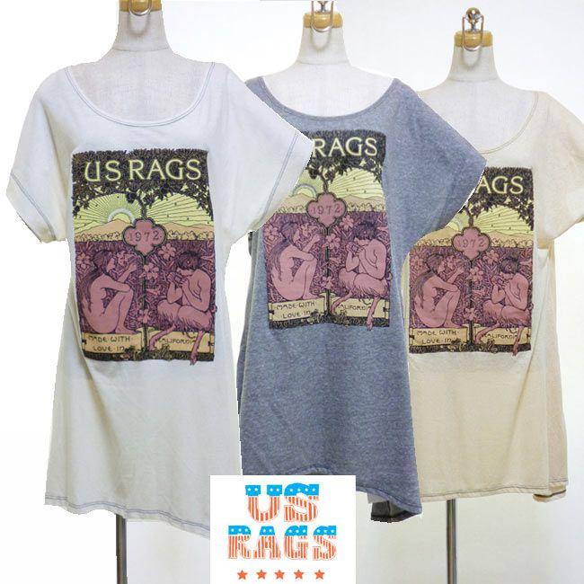 """#USRAGS #ユーエスラグス #トップス #ヴィンテージレース #カリフォルニア #インポート #タンクトップ #ワンピース #ボーダー #スカーフ柄 #Tシャツ #チュニック  US RAGS(ユーエスラグス) デザイナーであるOliver Marunaは、カリフォルニア大学サンタバーバラ校を卒業してから5年間世界中を旅し、帰国後カリフォルニアでビンテージウェアの卸売りを開始、2002年から""""古き良きカリフォルニア""""をコンセプトにしたUS RAGSをスタート。 US RAGSは、ビンテージの生地を復刻したり、手書きのナンバリング・モチーフやサーフテイストなプリント・デザインが特徴で、カリフォルニアで縫製やハンドスクリーンプリントをおこなっている、今では数少ないMade In USAブランドです。"""