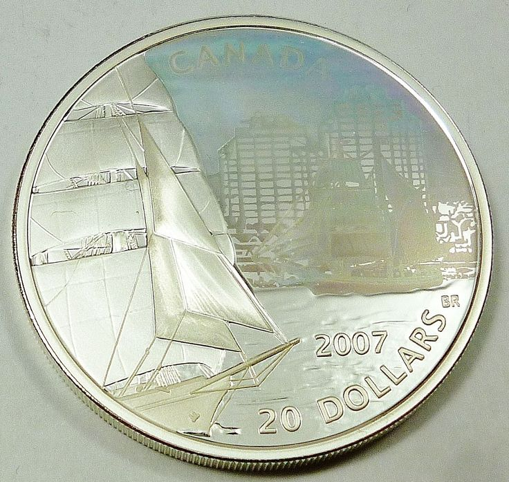 2007 Canada / Canadian Tall Ships Series Brigantine $20 Silver Coin  Price : $52.00  Ends on : 1 week Order Now