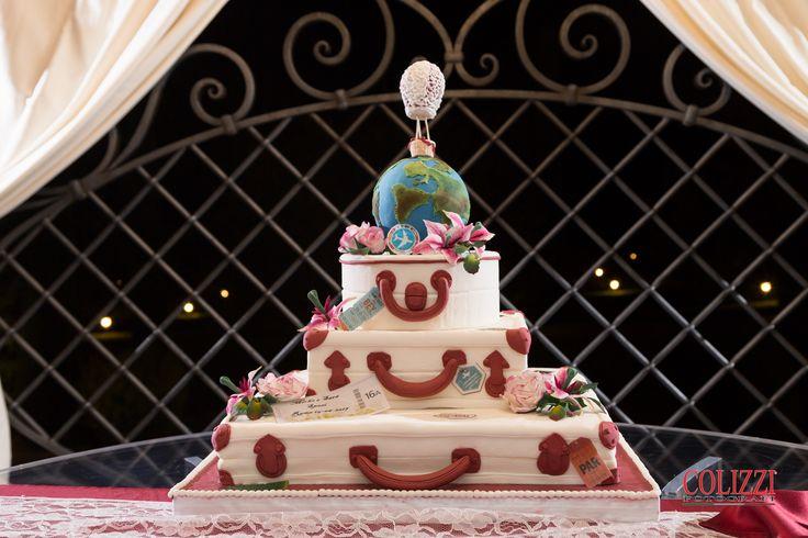 Wedding cake tema viaggi