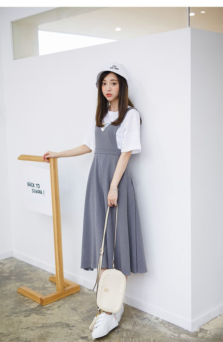 Korean Fashion - Single color dress - AddOneClothing - 4
