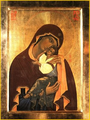 """Icon of the Mother of God """"Tenderness"""" of the Pskov Caves"""