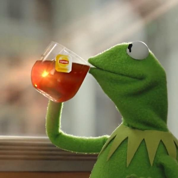 On this page you can create a funny Kermit the Frog Drinking Tea meme. But that's none of my business.