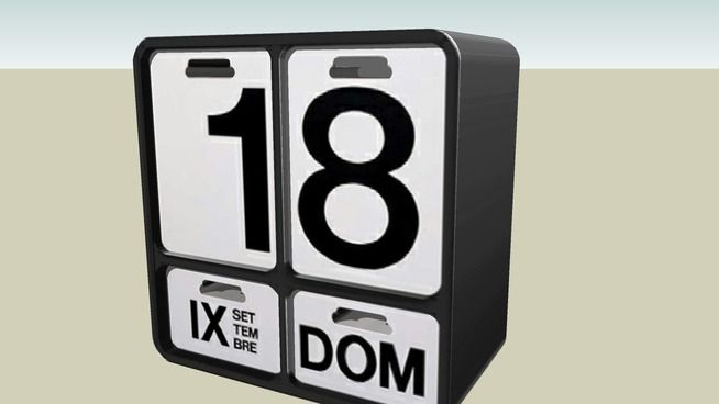 calendario - 3D Warehouse