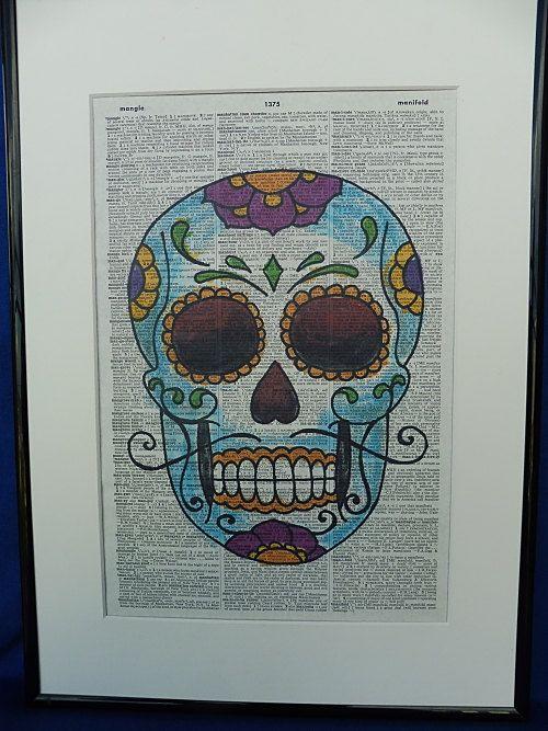 Sugar Skull Dia de los Muertos Poster Dorm Room by DecorisDesigns