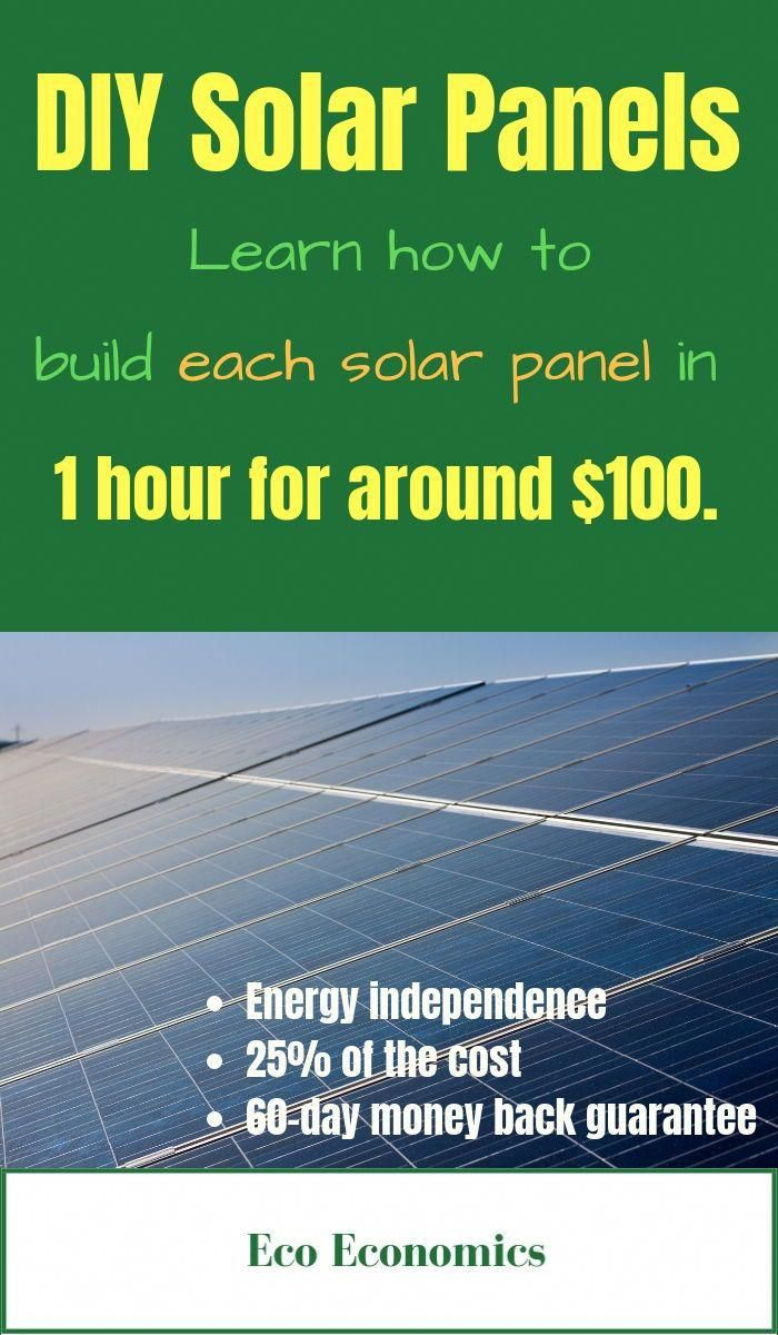 How To Install Diy Solar Panels By Eco Economics Surprisingly You Can Actually Build A Solar Energy System In Your Spa Solar Energy Diy Diy Solar Panel Solar