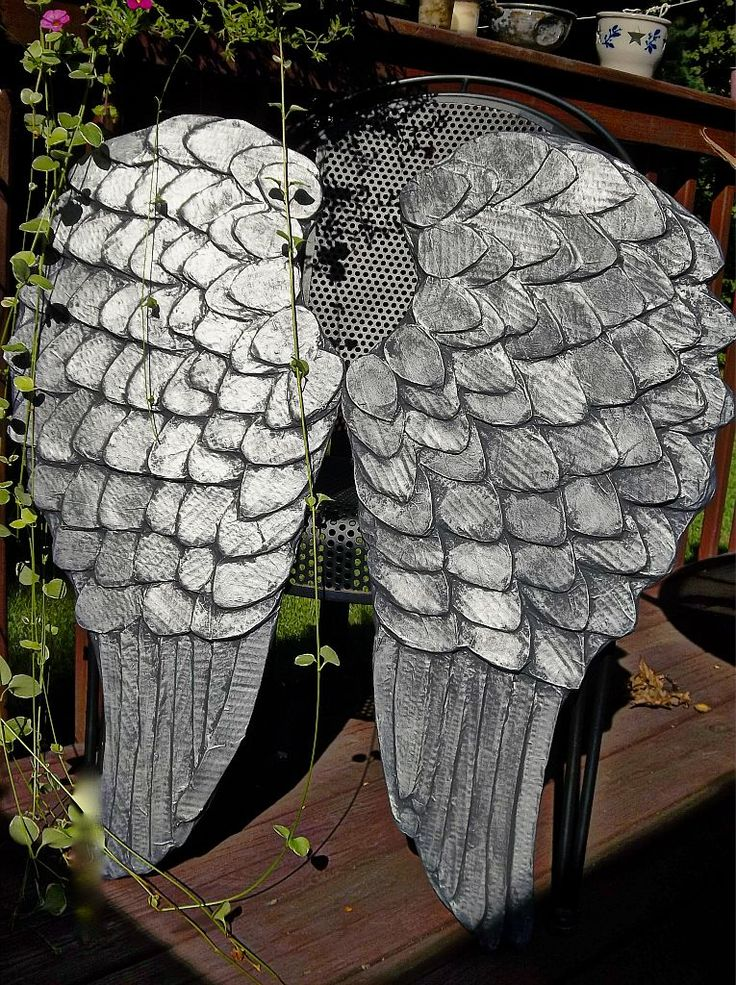 DIY Angel Wings with Tarnished Silver Effect