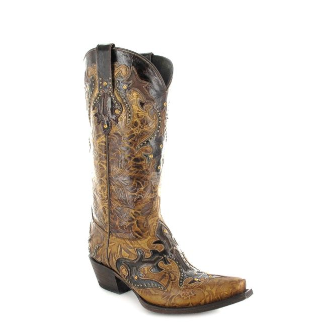 Holy Shit ! Fashion Boots - Lucchese M5725 Damen Westernstiefel - braun / cafe