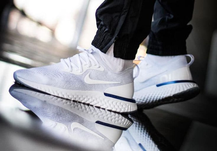 Nike Epic React Flyknit White Racer Blue AQ0067-100 (3) | Shoe time |  Pinterest | Adidas and Trainers