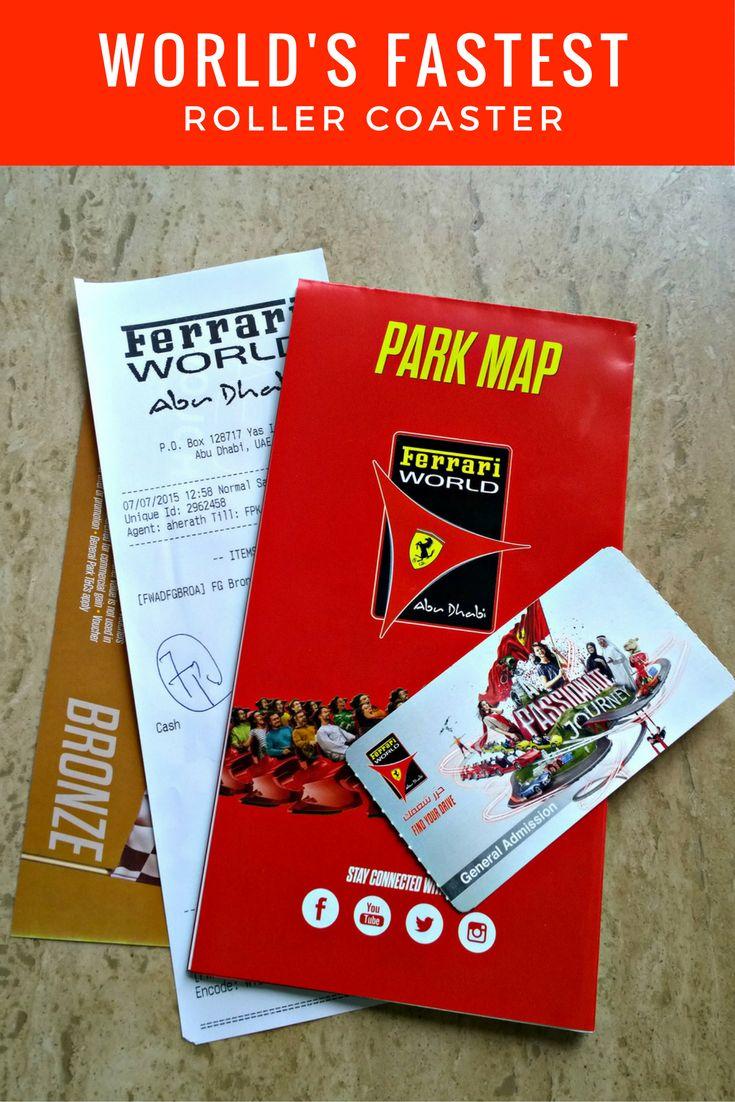 Formula Rossa - Riding the world's fastest roller coaster #ferrariworld #abudhabi