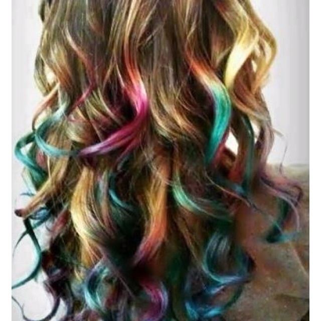 I would totally do this too my hair..