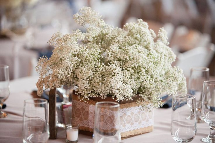 Babys Breath And Peonies Centerpieces | Cotton Mill Wedding Texas - Rustic Wedding Chic