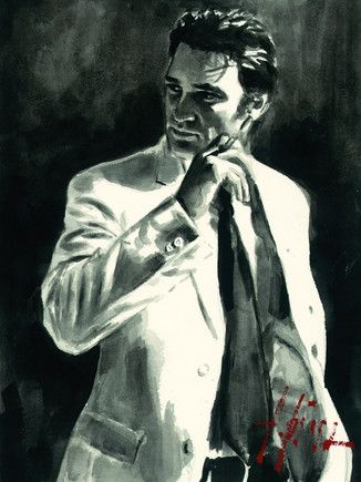 Fabian Perez - Study for Marcus in White (Deluxe) (large image)