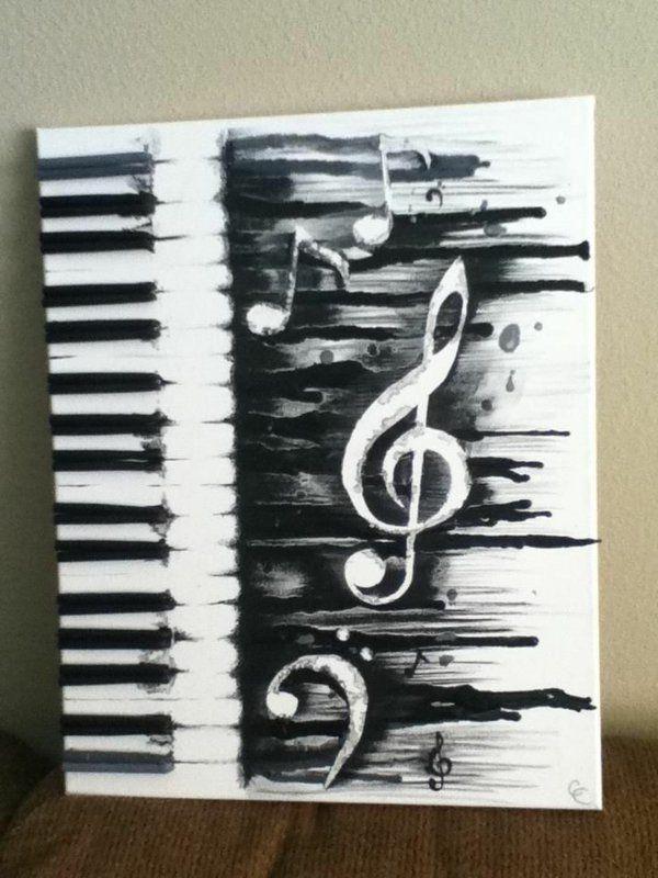 musik diy moderne Leinwandbilder musikalisch klavier