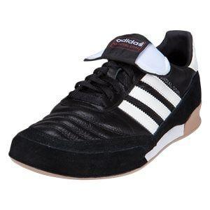 adidas Mundial Goal Indoor Soccer Shoe - Black/White