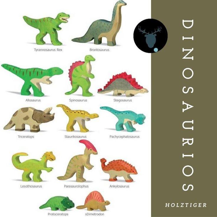 Coleccion de dinosaurios Holztiger www.hullitoys.com/15_animales-de-madera-holztiger-y-personajes-de-cuentos