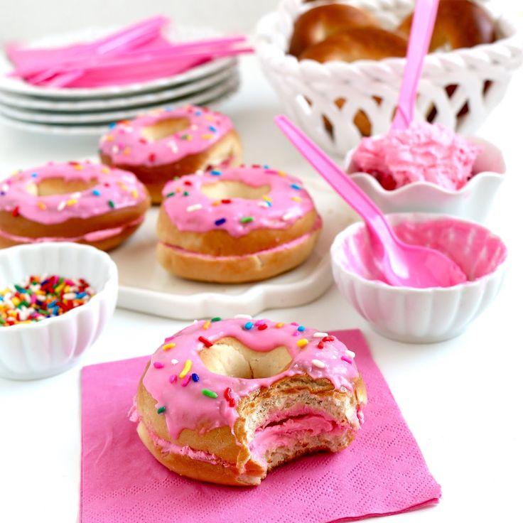 Lindsay Ann Bakes: Easy No-Bake Bagel Donuts