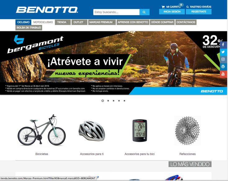 ¿Aún no tienes tu Bicicleta Benotto?...Entra a nuestra tienda en línea y desde ahí puedes hacer tu compra directa con entrega a domicilio en cualquier parte de la República Mexicana.  También puedes adquirir accesorios para ti y tu bicicleta Benotto así como muchos artículos más.
