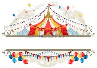 Marco de carpa de circo con espacio para texto Foto de archivo - 9267178