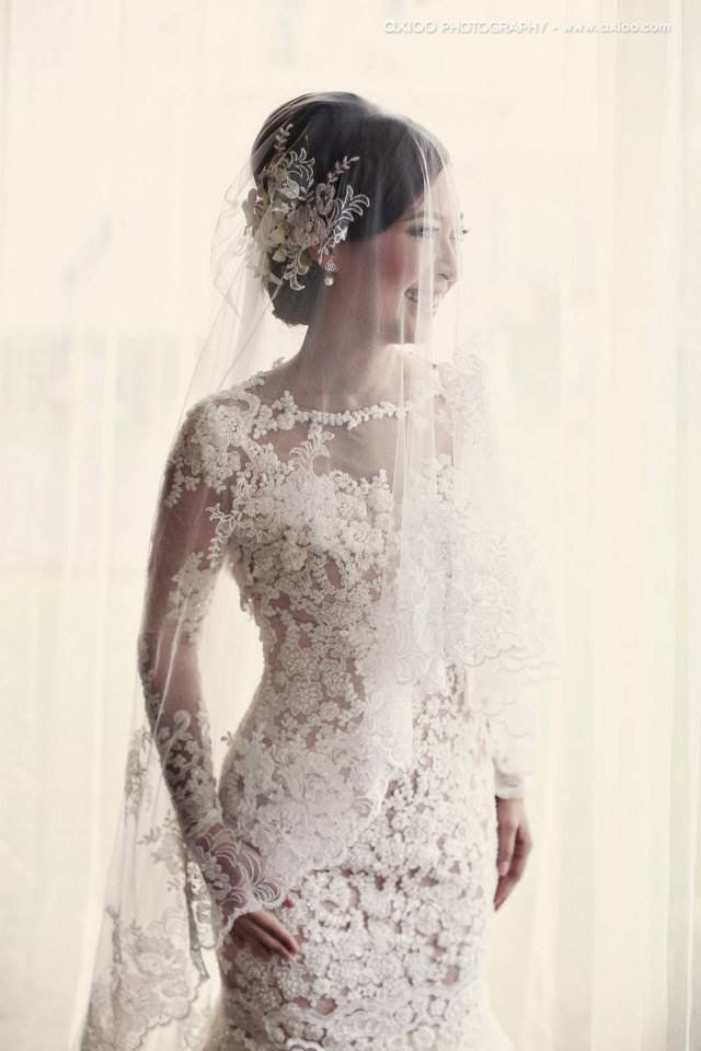 Chinese Modern Reception Dresses Kelvin & Sendy French Garden Bali Wedding 54580