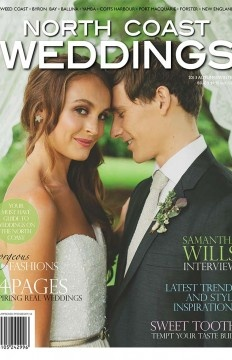 Feature wedding (Lois & Robert) in issue 8 of 'North Coast Weddings Magazine' (pg 102-103).
