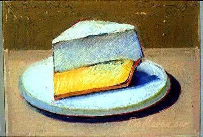 Education For Cake Artist : Lemon Meringue Pie - 1964, Wayne Thiebaud ARTIST : Wayne ...