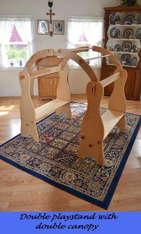 Natural Wooden Waldorf Playstand   by Elves and Angels David's Playstands