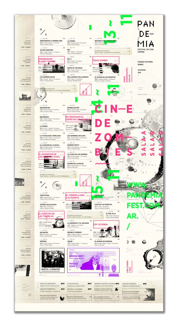 PANDEMIA - Festival de Cine Zombie by Jimena Rivera, via Behance