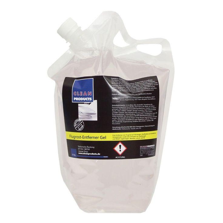 CLEANPRODUCTS Flugrost-Entferner Gel - 2,5 kg  Zum Entfernen von Flugrost auf Fahrzeugen (Auto, Lkw, Bus, Anhänger), Rostflecken auf mineralischen Untergründen (Beton, Granit) sowie zum Entrosten von Werkzeugen und Metall-Legierungen. Säurefrei und pH-neutral.