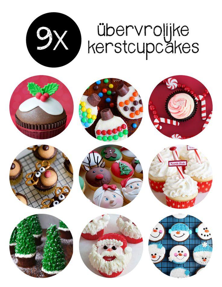 Je kunt ze voor meer dan € 2,- per stuk bestellen, maar je kunt natuurlijk ook zelf kerst cupcakes maken. Zeker aan de hand van deze vrolijke voorbeelden.