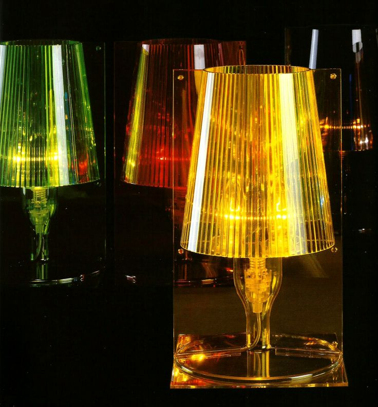 Kartell Take lamps in green, red and yellow. They truly light up any room and give a relaxing feel.