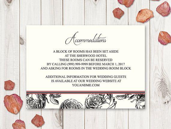 Black Roses Wedding Accommodations Template by ShishkoTemplates
