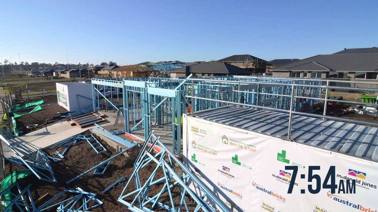 See how the Supaloc steel frame of our Havana One home was constructed in only five hours. #McDonaldJonesHomes #BuldForACure