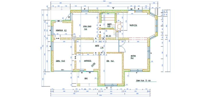 dwg ad 2 1 tek katl villa plan ndirme linki http. Black Bedroom Furniture Sets. Home Design Ideas